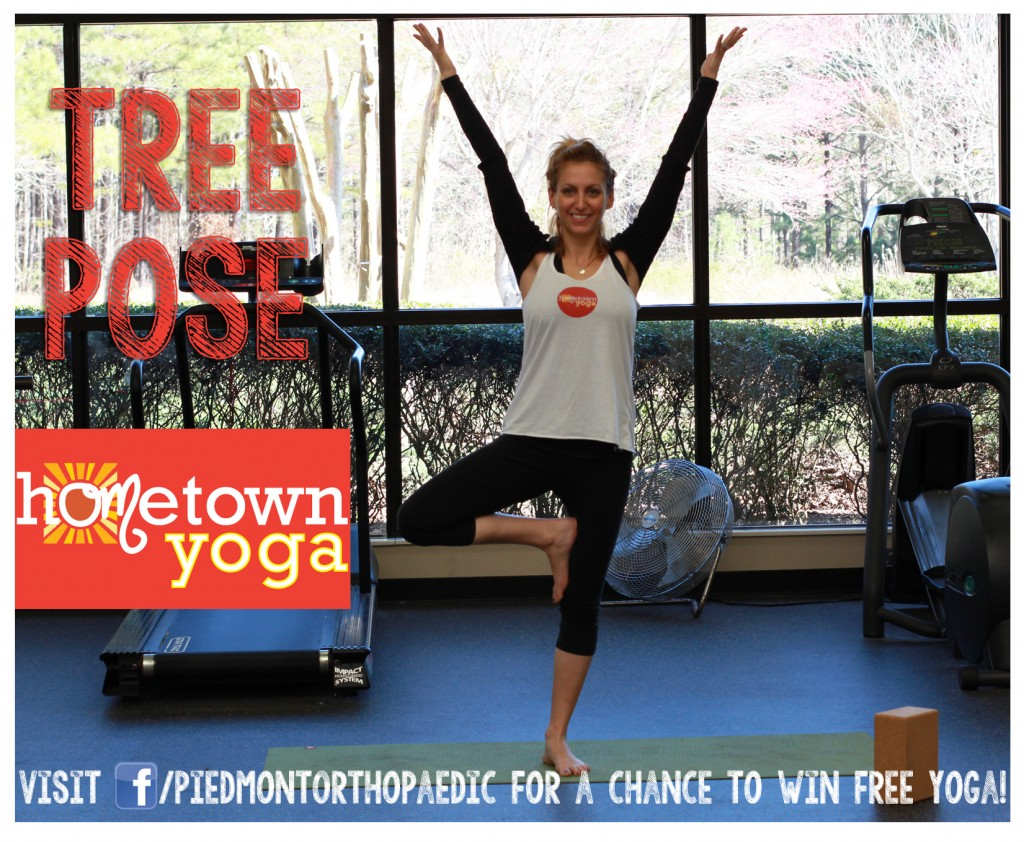 Tree Pose - Hometown Yoga at Piedmont Orthopaedic Complex