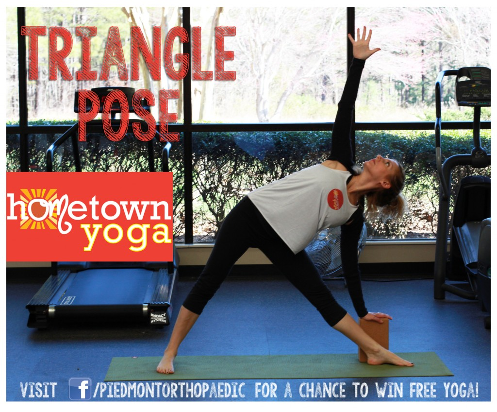 Triangle Pose, Hometown Yoga at Piedmont Orthopaedic